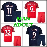 Wholesale Thailand quality custom Adult Kits PSG Jerseys Uniform Football Jerseys IBRAHIMOVIC CAVANI DI MARIA VERRATTI Jersey
