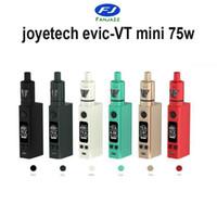Precio de Evic joytech-Min.12PCS <b>Joytech Evic</b> VTC Mini V2 75W Kit con Tron S Tanque Atomizador VV VW Temp Caja de Control Mod