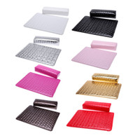 Wholesale Column Cushion Pillow Salon Hand Holder Rectangle Leather Pad Nail Arm Rest Manicure Nail Art Accessories Tools Equipment EMS Free