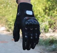 Wholesale 1 Pair Black Sports Motorbike Motorcycle Gloves D Dimensional Breathable Mesh Fabric Summer Gloves Popular Leather