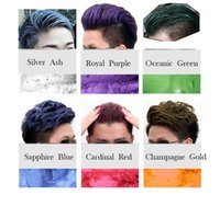 Wholesale Dazzle colour hair mud grandma gray silver one time dyed white color paste wax men