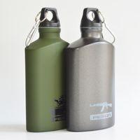 backpacking drinking water - Outdoor Sports Water Bottle Aluminum Oval travel sports kettle student metal Drinking Bottles bike bottles ML