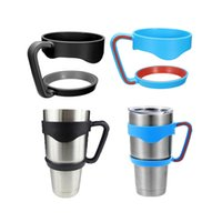Wholesale Portable Plastic Black Water Bottle Mugs Cup Handle For Ounce Tumbler Rambler Cup Hand Holder Fit Travel Drinkware