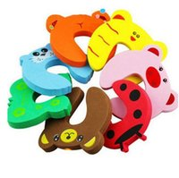 Wholesale 2016 Desgin Children Baby Kids Animal Cartoon Jammers Stop Door Stopper Holder Lock Safety Guard Finger High Quality