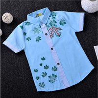 Wholesale 2017 Classic Maple Leaves Polo T shirt Years Old Boys Shirt Summer outfit Blue Pink Yellow S XXL