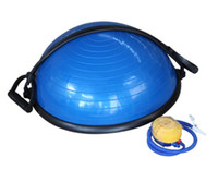 balance body equipment - Top quality PVC Explosion Proof Yoga Ball Plastic Bosu Ball Balance Fitness Ball Body Building Exercise Training Equipment