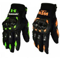 Wholesale 1 Pair Kawasaki KTM Fashion New Full Finger Motorcycle Gloves Motocross Luvas Guantes Moto Protective Gears Glove