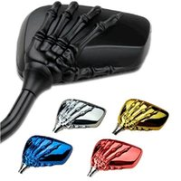 Wholesale 2016 Motorcycle ABS Skeleton Skull Hand Claw Side Mirror for Harley Honda Suzuki Kawasaki Skull Mirror mm mm No scratch