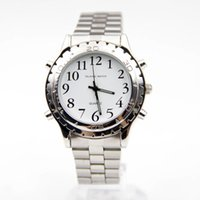 auto blinds - 2016 Watches For Blind Or Visually Impaired Watch Simply English Talking Clock Stainless Steel Relogios Masculinos