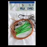 Wholesale 5pcs String Hook Fishing Wire Fishhooks Fishing Tackle Set Outdoor Freshwater Fishhook Sets String Fish Tackle