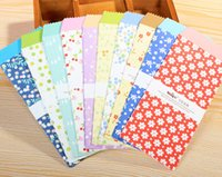 Wholesale New Sweet Bamboo Flower series paper Envelope love letter gift bag office school supplies W2