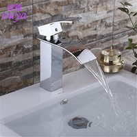 basin mixer tap installation - High quality brushed chrome waterfall sink tap single handle single hole faucet deck installation basin Faucet Sink Mixer Tap