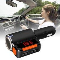 amplifier audio splitter - Car FM Transmitter A2DP Bluetooth Handsfree MP3 Phone Charger For BMW Honda Audio Toyota Ford Cigarette Lighter Splitter