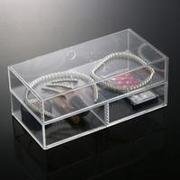 Wholesale Clear Storage Case New Anti Scratch Makeup Cosmetic Storage Trays Clear Storage Box Jewelry Display Acrylic Case Holder Plexiglass Drawer