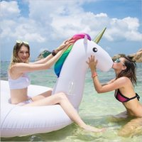 Cheap Free DHL 275cm inflatable Unicorn Giant Pool Float Swimming Float for Adult Tube Raft Kid Swim Ring Summer Water Fun Pool Toy