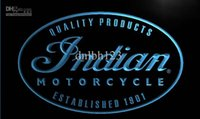 advertising blue - LG214 TM Indian Motorcycle Service Neon Light Sign Advertising led panel