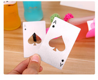 Wholesale New Stylish Hot Sale Poker Playing Card Ace of Spades Bar Tool Soda Beer Bottle Cap Opener Gift DHL shipping
