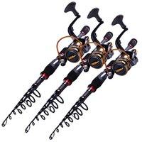 Wholesale 2016 New Road sub throwing pole Carbon Throwing away pole M fishing rod YB5000 Spinning Wheel Fishing Tackle Set