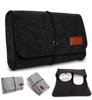 adapt drop shipping - Brand Digital Storage Bag Wool Felt Bag Pouch For Macbook Laptop Adapt And Mouse Case Colors Wholesales Free Drop Shipping