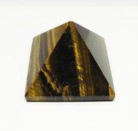 bamboo decorating - Natural Yellow Tigereye Pyramid Goods Furniture For Display Pendulum Decorate Origin