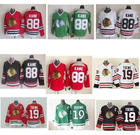 Wholesale Chicago Kane Toews White Red Green Black Hockey Jerseys Ice Winter Home Away Jersey Stitched Logo Long Sleeve Shirts