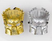 aliens props - Iron warrior Masks Man Supper Alien Predator Mask Warrior Movie Prop avpr lone Wolf full face party Halloween Mask EMS