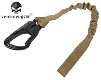Wholesale Tactical Elastic Safety Lanyard Belt Safety Rope Military Secure Strap Protector Sling For Climbing Hiking Camping EM8891