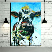 art pop artists - Skills Artist Handmade High Quality Abstract Animal Cow Oil Painting Pop Art Painting For Living Room Decoration