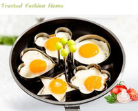 Wholesale Stainless Steel Egg Shaper Egg Mold Cooking Tools Pancake Molds Ring Heart Flower Kitchen Gadget