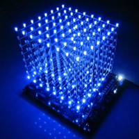 Wholesale In stock D8 light cube parts pcb board s2 CUBE8 x8x8 D LED information and source D8S d led cube Blue