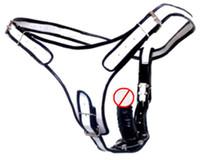 Wholesale white black leather Dildo Panties with Black Soft anal plug Dildo cm long male female adjustable Rubberized Dildos Panty Pants Shorts ksd