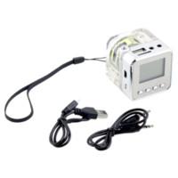 Wholesale Mini Speaker LCD HiFi Music MP3 Player Micro SD TF USB Disk FM Radio Cheap speaker light