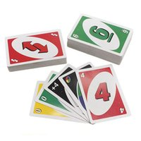Wholesale 2016 hot UNO poker card standard edition family fun entertainment board game Kids funny Puzzle game available