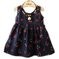Wholesale 2 Ages Baby Girl Dress Summer Kids Teenagers Sleeveless Cotton Dresses Clothes For Girls Children Toddler Vestidos