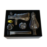 Wholesale IN STOCK Spray Filter Kits Oil Rigs Bongs Glass Water Pipes Double Function Smoking Ash Catcher Smoking Accessories dab kits Gift box