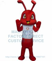 advertising mascots - red ant mascot costume factory direct adult size advertising cartoon fire ant insect theme anime cosply costumes fancy dress