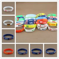 african countries flags - 2016 New Hot Casual Country Bracelet National Flag Fashion Silicone Olympics Bracelets Comfortable Beautiful Sports Wristband