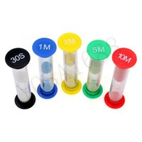 Wholesale 1 Colorful Hourglass Sandglass Sand Clock Timers desktop clock types sec minutes minutes minutes minutes