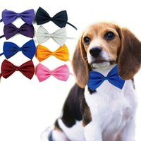 Wholesale Tie Bow for Dog and Cat Puppy Pet Cute Pet Bowknot Tie Bow Adjustable Knot Necktie Clothing Collar Dogs Grooming Products