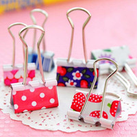 art supply organizers - Sweet Flower Printed Metal Binder Clips Notes Letter Paper Clip Office School Organizer Supplies mm mm