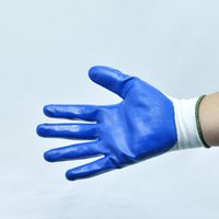 Wholesale Labour protection gloves for handling of sharp rough or slippery objects Nitrile palm cated garden work gloves