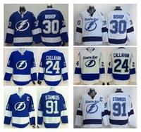 Men bay wear - Men s Tampa Bay Lightning Steven Stamkos Royal Blue Home Captain Premier Jersey Cheap Ben Bishop Hockey Jerseys Playoffs Hockey Wear