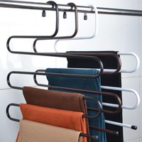 bedroom clothes rack - Multifunctional Magic S type multi layer pants slip pants clothing hanger rack bedroom closet hanging storage rack hangers