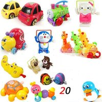 Wholesale NEW style Vintage Metal Wind up Car Animal Model Clockwork Tin Toys Collectible Classic Education Toys Gift For Children