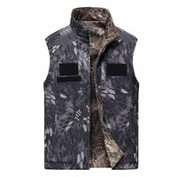 Wholesale Vest men hunting clothing tactical outdoor sleeveless jacket reversible vest clothing male army military waistcoat combat vest