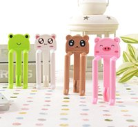 Wholesale 8pcs SET Fashion Cartoon Home Dustbin Bag Clip Waste Bin Trash Bag Fixed Garbage Can Clip Bag Holder Clamp with Colors