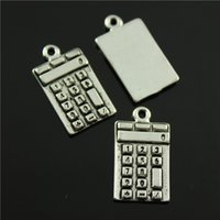 antique calculators - 40pcs mm antique silver plated Calculators charms