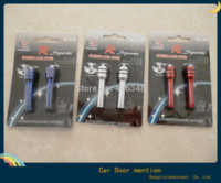 Wholesale Hot new aluminum metal car door interior lock cover locking pins buttons pull stem cap with rhinestone blue