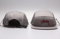 stussy - 2016 STUSSY New spring fashion men denim patch cap baseball snapback caps flat brimmed Trucker hat panel polo cap for men