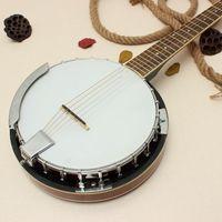 banjo gifts - New string Banjo Exquisite Design Professional Musical Banjo Sapelli Notopleura Wood Alloy Musical Instruments Gift